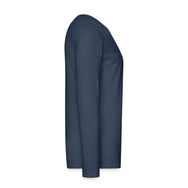 Männer Langarm-Shirt, ROYC klein/mehrfarbig Flock-Druck