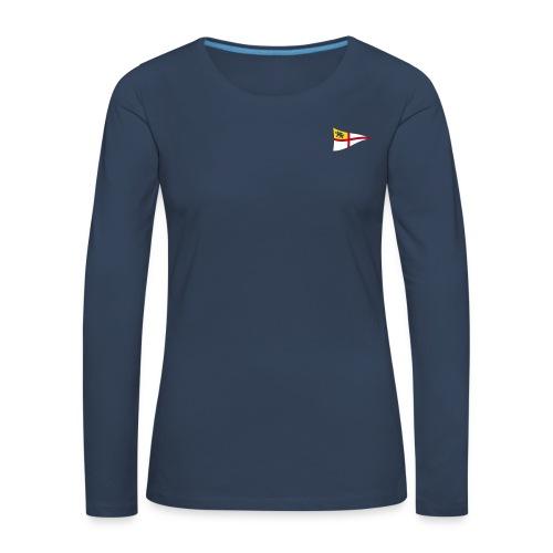 Frauen Langarm-Shirt, ROYC klein/mehrfarbig Flock-Druck - Frauen Premium Langarmshirt