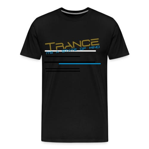 Ilovebass trance shirt - Herre premium T-shirt