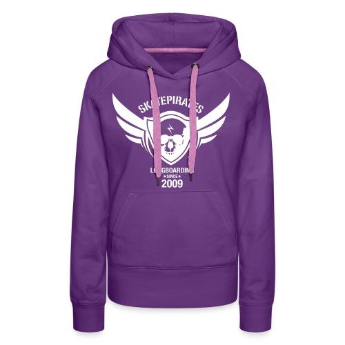 SKATEPIRATES Hoodie Girls purple/white - Frauen Premium Hoodie
