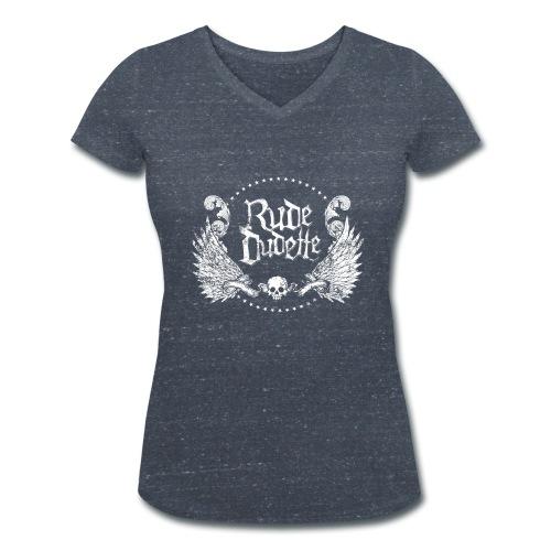 Rude Dudette (blanc) - T-shirt bio col V Stanley & Stella Femme