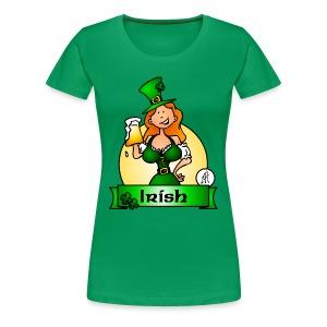St. Patrick's Day Irish Maiden - Women's Premium T-Shirt