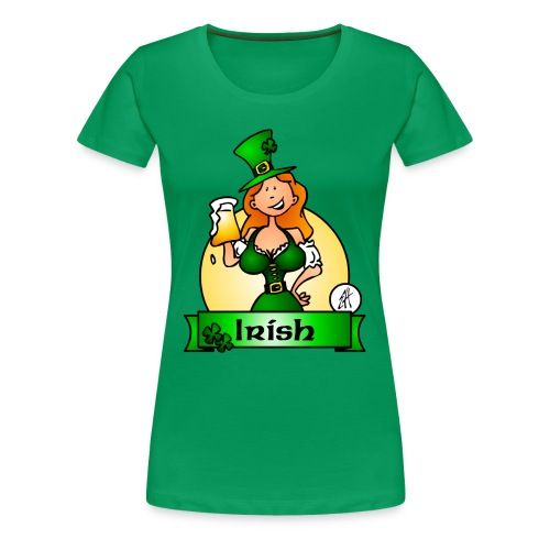 St. Patrick's Day Irish Maiden - Women's Premium T-Shirt