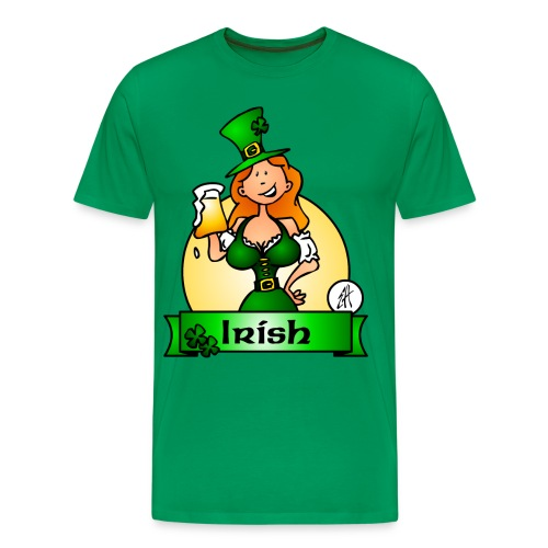 St. Patrick's Day Irish Maiden - Men's Premium T-Shirt
