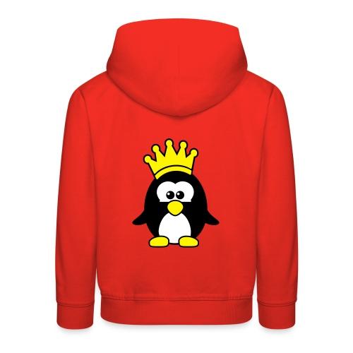 Pinguin mit Krone - Kinder Premium Hoodie