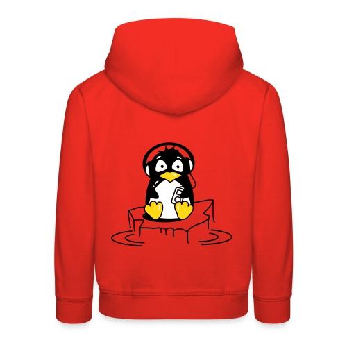 Pinguin auf Eisscholle - Kinder Premium Hoodie