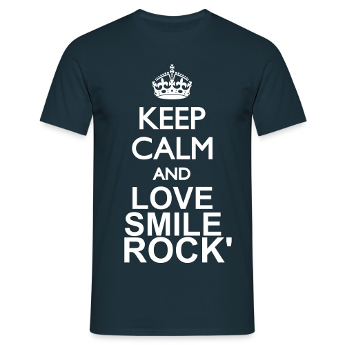 Tee shirt Keep Calm and LOVE, Smile, Rock' - T-shirt Homme
