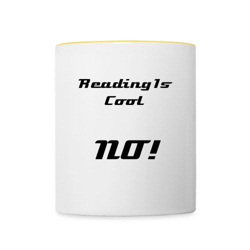 Reading Is Cool Cup - Contrasting Mug