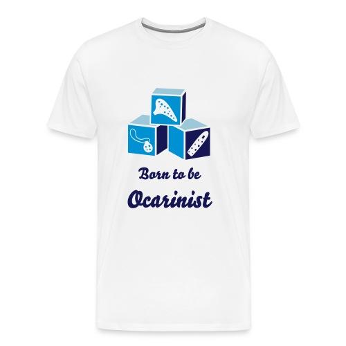 Born to be Ocarinist Blue - Men's Premium T-Shirt