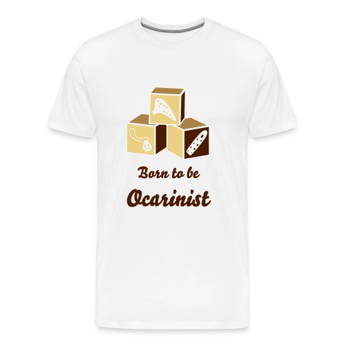 Born to be Ocarinist Brown - Men's Premium T-Shirt