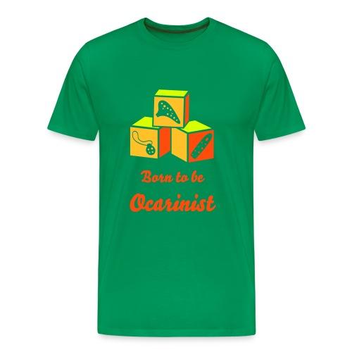 Born to be Ocarinist Orange - Men's Premium T-Shirt