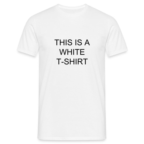 This is a white Tshirt - Men's T-Shirt