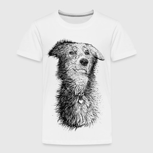 Hvit Love Dog Skjorter - Premium T-skjorte for barn