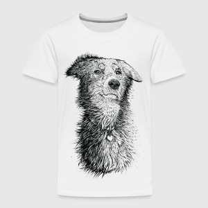 Vit Love Dog T-shirts - Premium-T-shirt barn