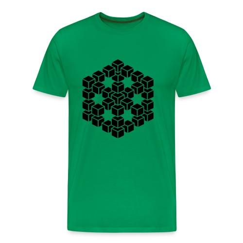 3D kubus shirt - Mannen Premium T-shirt