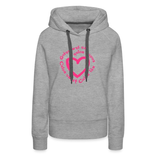 Calon Lân Hoodie - front logo (pink) - Women's Premium Hoodie