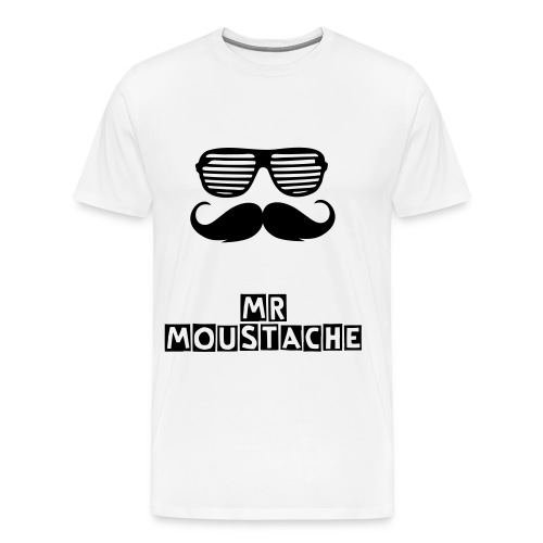 Tee shirt limited édition Mr moustache - T-shirt Premium Homme