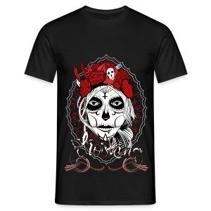 T-shirt Santa Muerte Men Black - T-shirt Homme