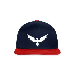Czapka typu snapback - chłopięca,czapeczka,czapka,moda,męska,nadruk,orzeł,ptak,z daszkiem