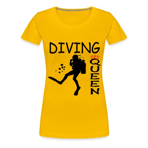 Diving Queen - Frauen Premium T-Shirt