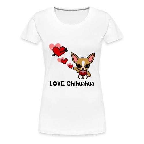 LOVE Chihuahua - Frauen Premium T-Shirt