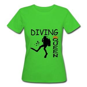 Diving Queen - Frauen Bio-T-Shirt