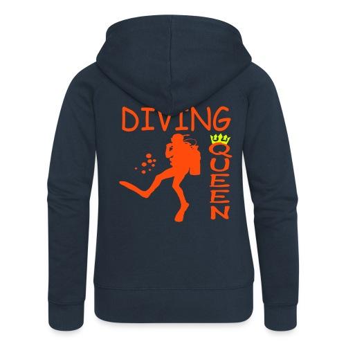 Diving Queen - Frauen Premium Kapuzenjacke