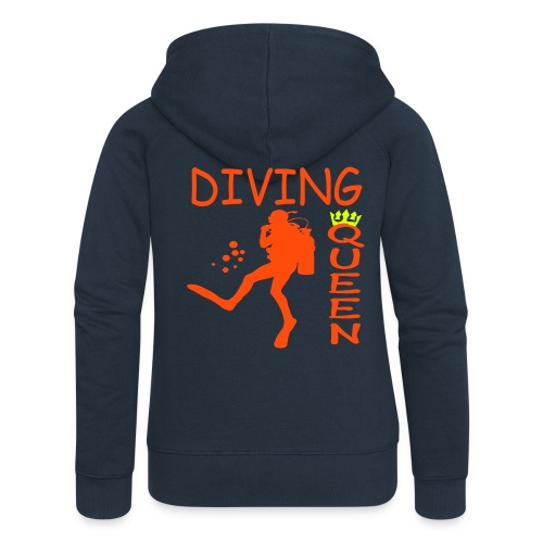 Diving Queen - Frauen Premium Kapuzenjacke