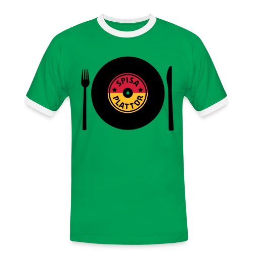 SPISA PLATTOR T-shirts - Kontrast-T-shirt herr
