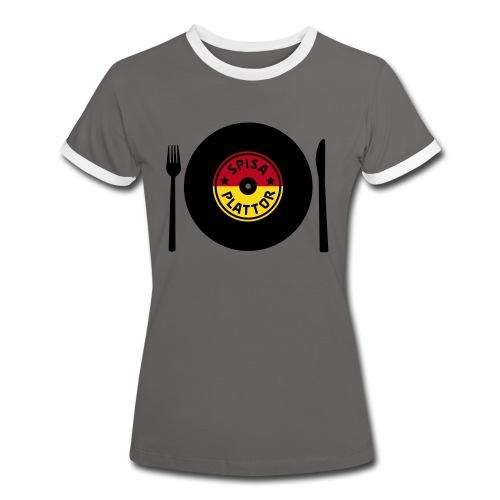 SPISA PLATTOR T-shirts - Kontrast-T-shirt dam