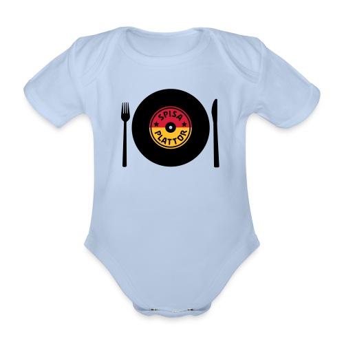 SPISA PLATTOR Babybody - Ekologisk kortärmad babybody