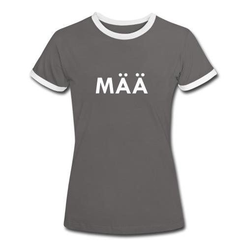 MÄÄ Dirndl Kontrast - Frauen Kontrast-T-Shirt