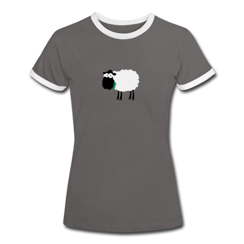 Schaf Dirndl Kontrast - Frauen Kontrast-T-Shirt