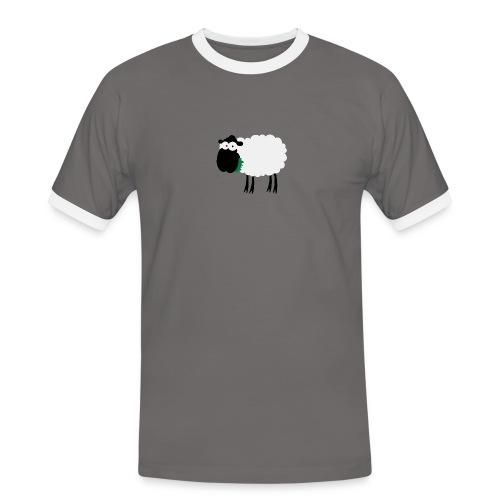 Schaf Bua Kontrast - Männer Kontrast-T-Shirt