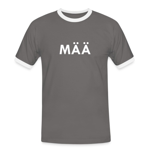 MÄÄ Bua Kontrast - Männer Kontrast-T-Shirt