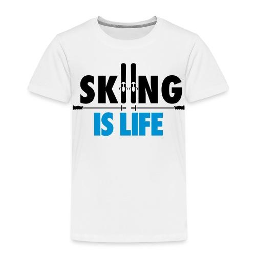 Premium-T-shirt barn - skidor