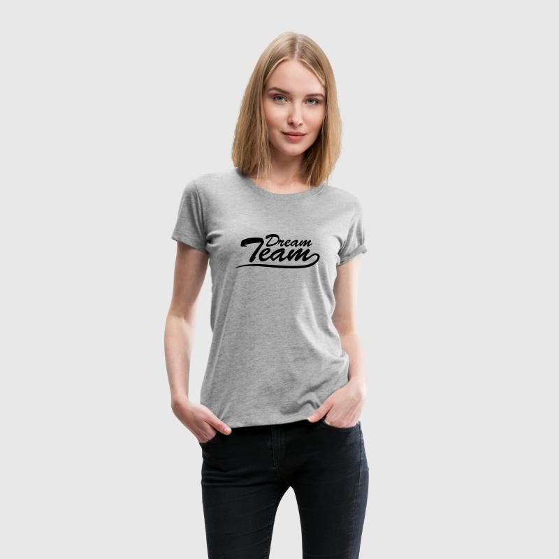 Text logo lettering couple dream team T-Shirts - Women's Premium T-Shirt