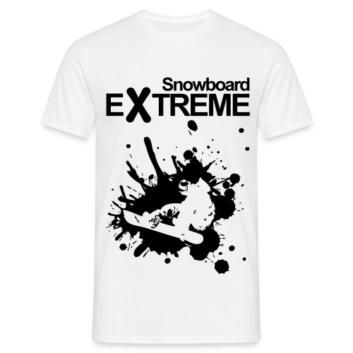 T-shirt herr - snowboard