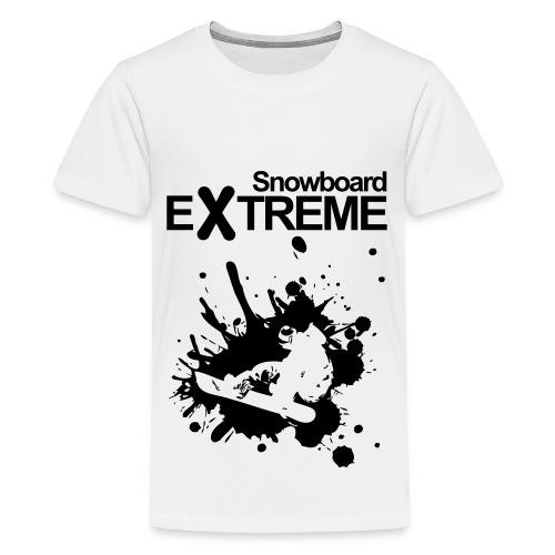 Premium-T-shirt tonåring - snowboard