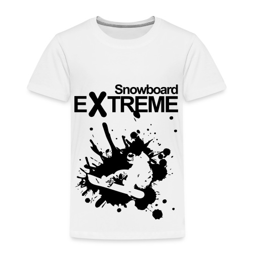 Premium-T-shirt barn - snowboard