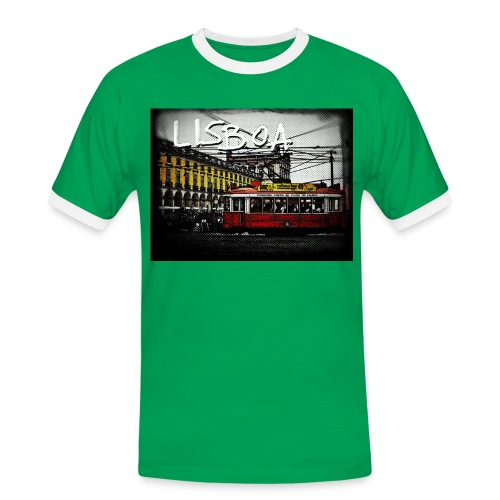Lisboa by Franky - Männer Kontrast-T-Shirt