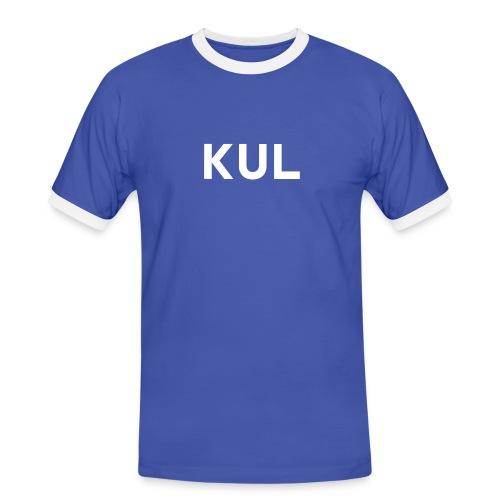 KUL Bua Kontrast - Männer Kontrast-T-Shirt