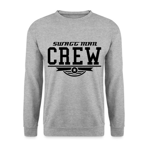 SWAGG MAN CREW T - SHIRT GRIS CLAIRE POUR HOMME - Sweat-shirt Homme