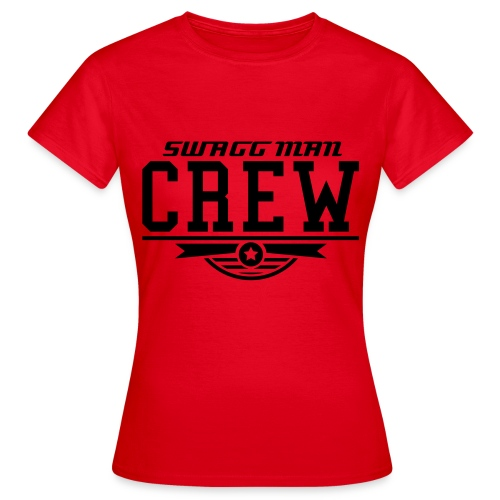 SWAGG MAN CREW T - SHIRT ROUGE POUR FILLES  - T-shirt Femme
