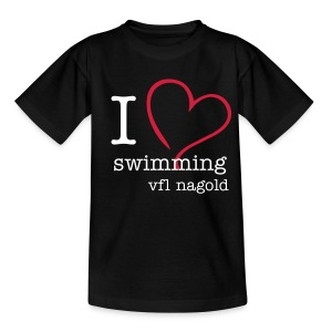 I love swimming - kids - Kinder T-Shirt