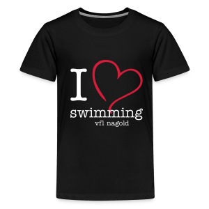 I love swimming - für Teenies - Teenager Premium T-Shirt