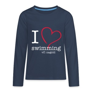 I love swimming - Teenager Premium Langarmshirt