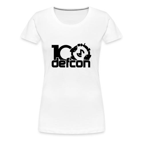 Defcon 100 premium ladies black print - Women's Premium T-Shirt