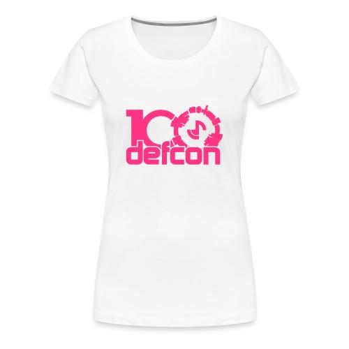 Defcon 100 premium ladies pink print - Women's Premium T-Shirt