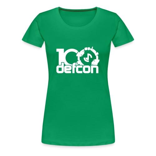 Defcon 100 premium ladies white print - Women's Premium T-Shirt